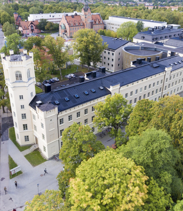 Campus Engelska Parken seen from above
